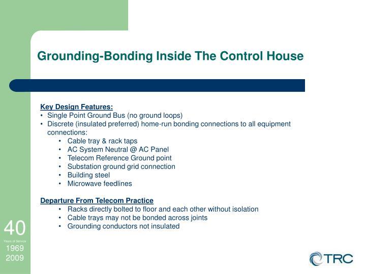 Grounding-Bonding Inside The Control House