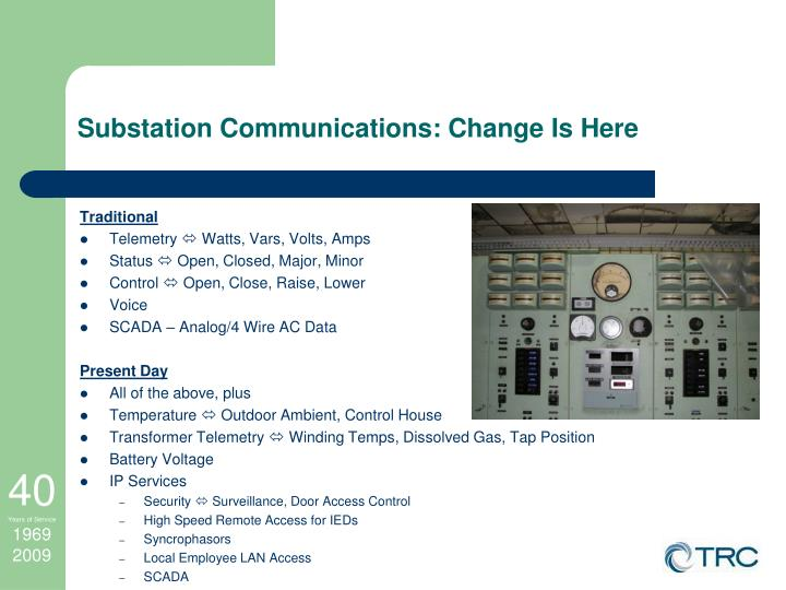 Substation Communications: Change Is Here