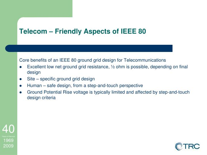 Telecom – Friendly Aspects of IEEE 80