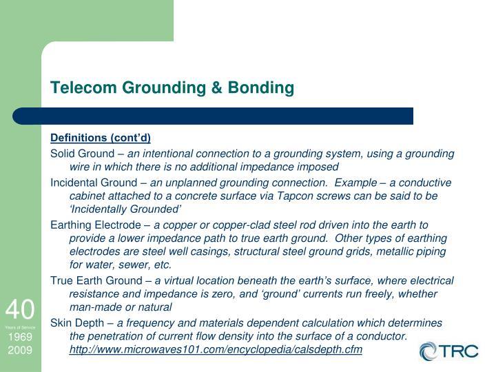 Telecom Grounding & Bonding
