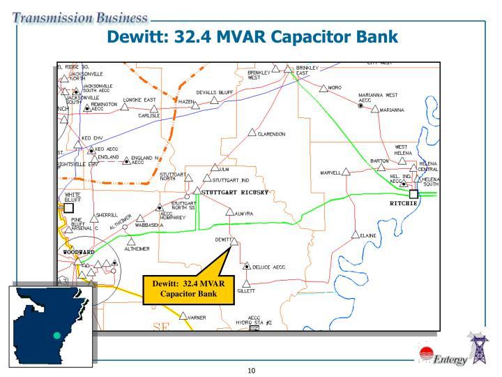 Dewitt: 32.4 MVAR Capacitor Bank