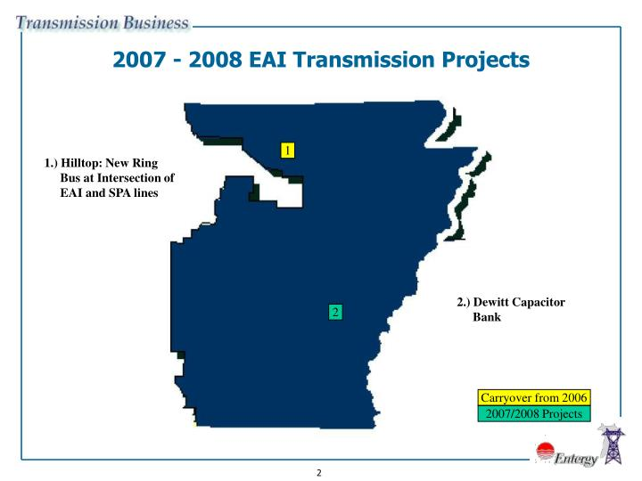 2007 - 2008 EAI Transmission Projects