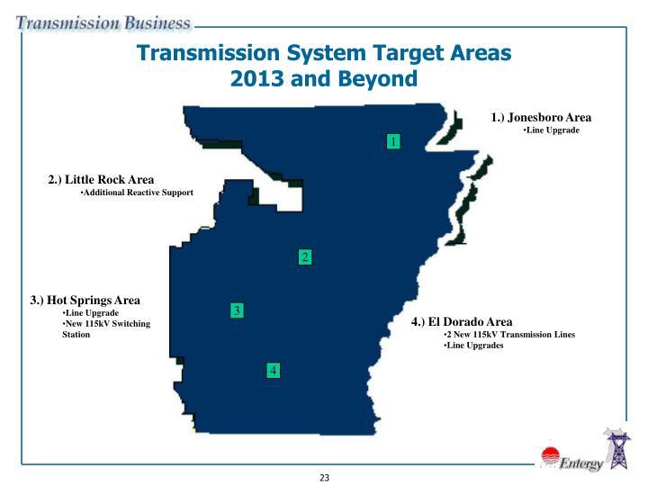 Transmission System Target Areas