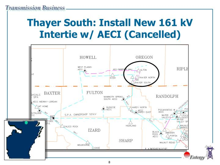 Thayer South: Install New 161 kV Intertie w/ AECI (Cancelled)