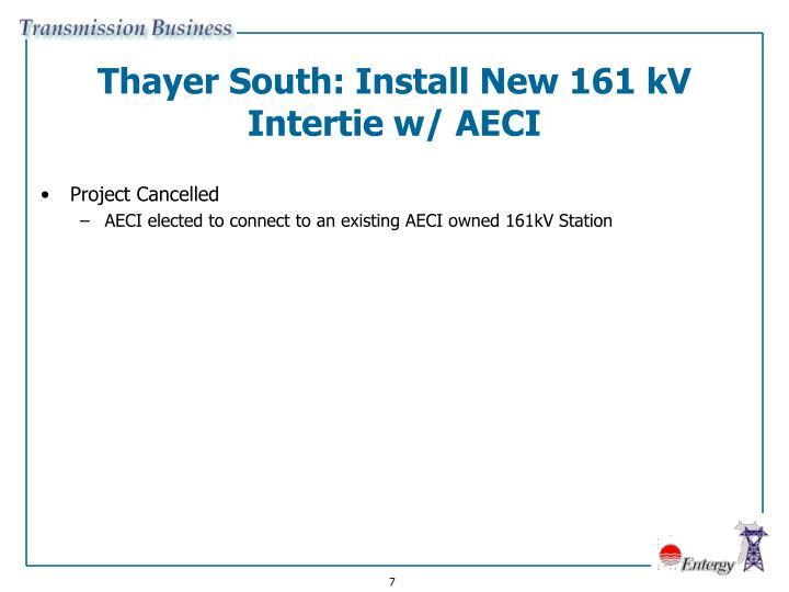 Thayer South: Install New 161 kV Intertie w/ AECI