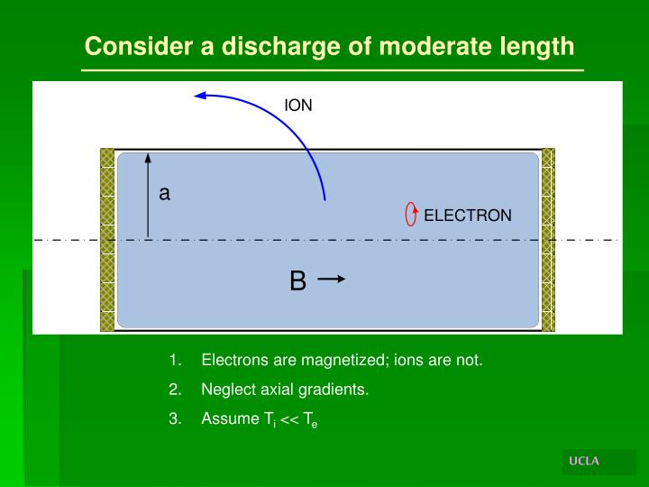 Consider a discharge of moderate length