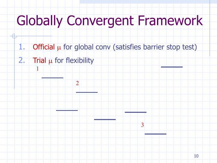 Globally Convergent Framework