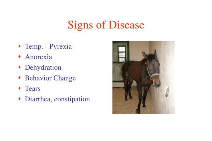 Signs of Disease