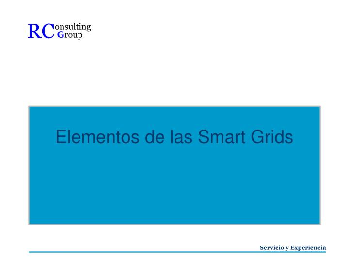 Elementos de las Smart Grids