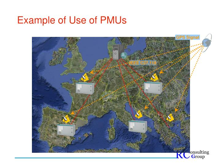Example of Use of PMUs