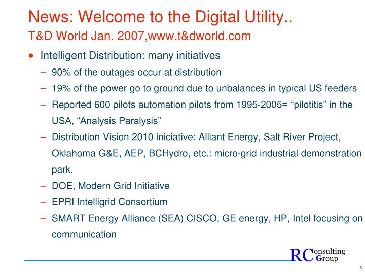 News: Welcome to the Digital Utility..