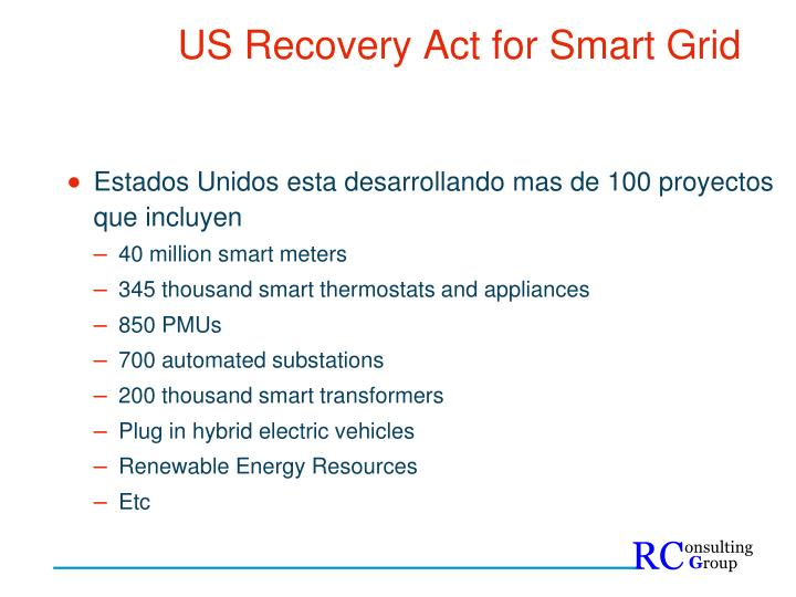 US Recovery Act for Smart Grid