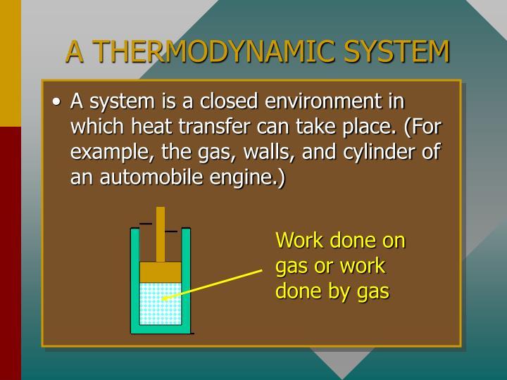 A THERMODYNAMIC SYSTEM