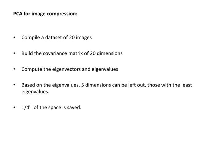 PCA for image compression: