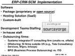 erp crm scm implementation