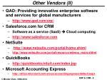 other vendors ii