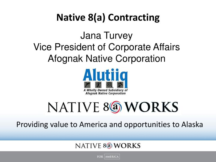 native 8 a contracting