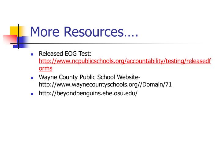 More Resources….