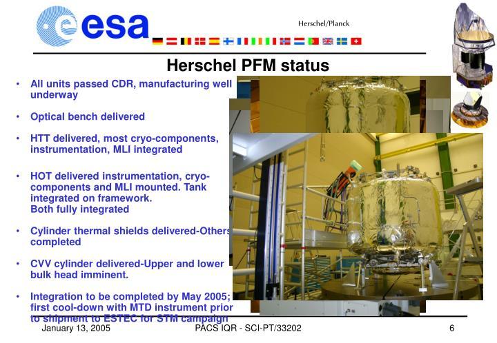 Herschel PFM status