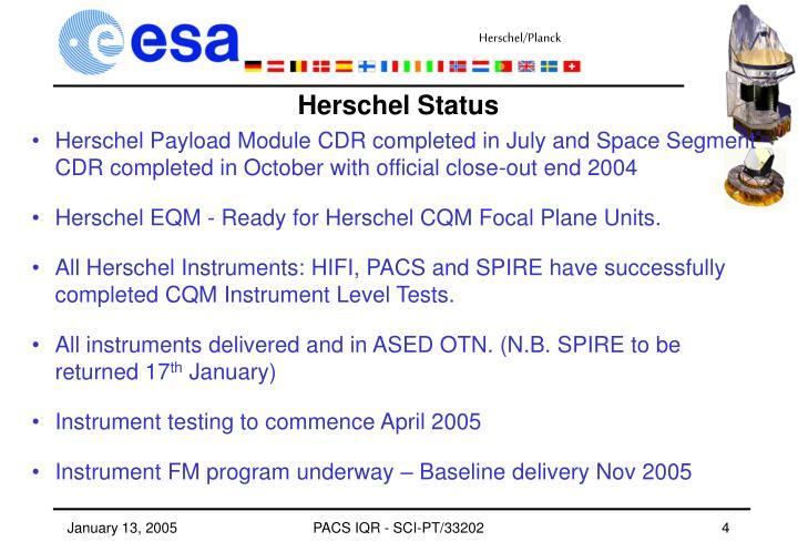 Herschel Status