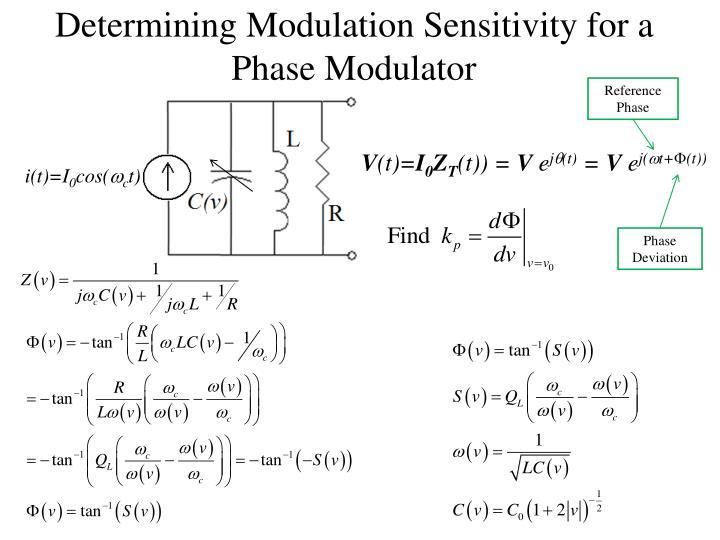 Determining Modulation Sensitivity for a Phase Modulator