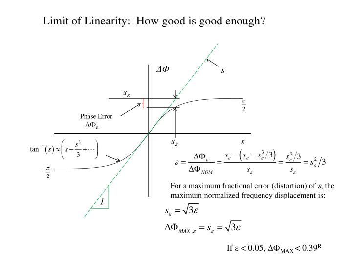 Limit of Linearity:  How good is good enough?