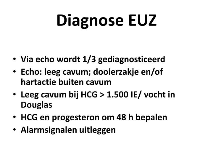 Diagnose EUZ