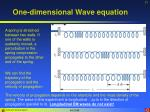 one dimensional wave equation3