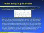 phase and group velocities1