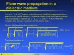 plane wave propagation in a dielectric medium10