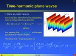 time harmonic plane waves