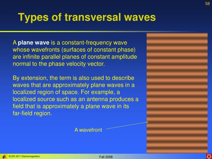 Types of transversal waves