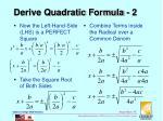 derive quadratic formula 2
