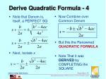 derive quadratic formula 4
