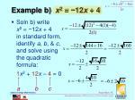 example b x 2 12 x 4