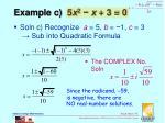 example c 5 x 2 x 3 0