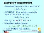 example discriminant4
