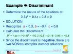 example discriminant5