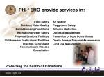 phi eho provide services in