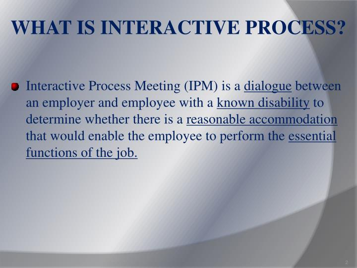 What is interactive process
