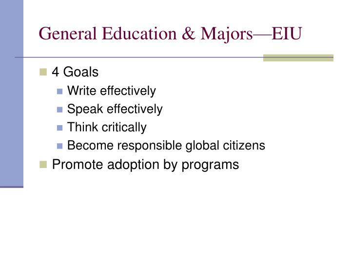 General Education & Majors—EIU