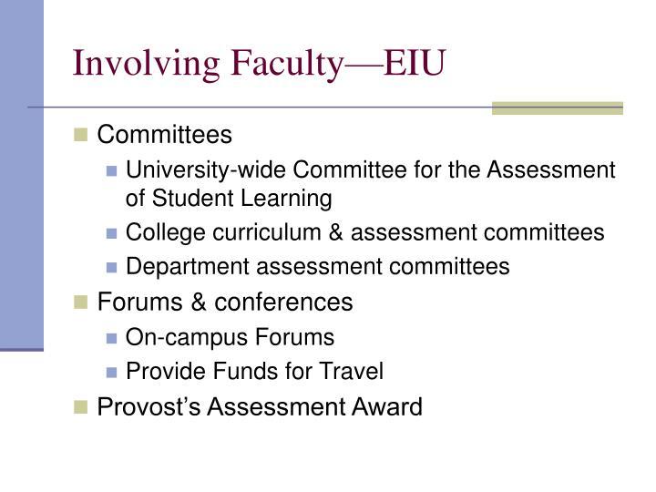 Involving Faculty—EIU