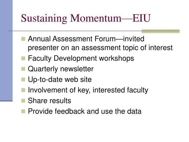 Sustaining Momentum—EIU