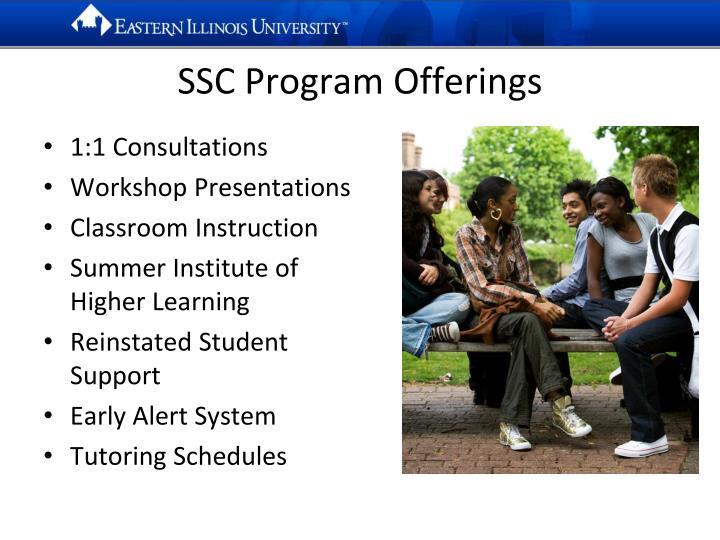 SSC Program Offerings