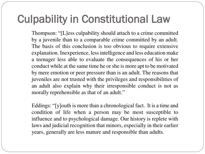Culpability in Constitutional Law
