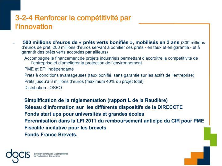 3-2-4 Renforcer la compétitivité par l'innovation