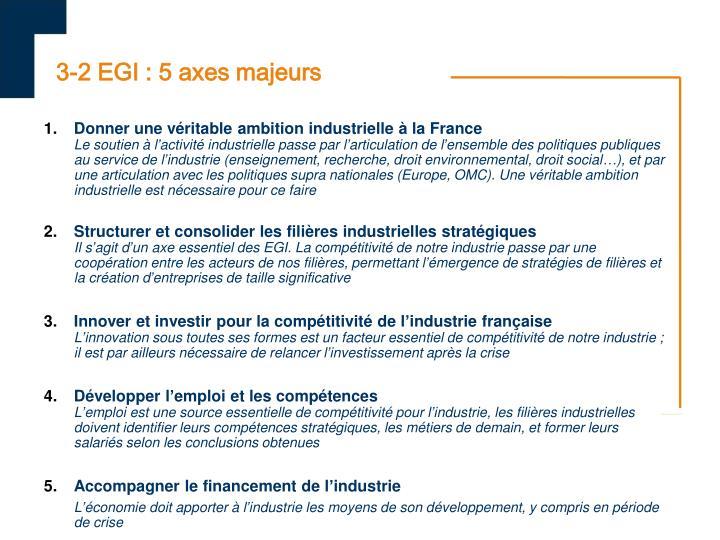 3-2 EGI : 5 axes majeurs