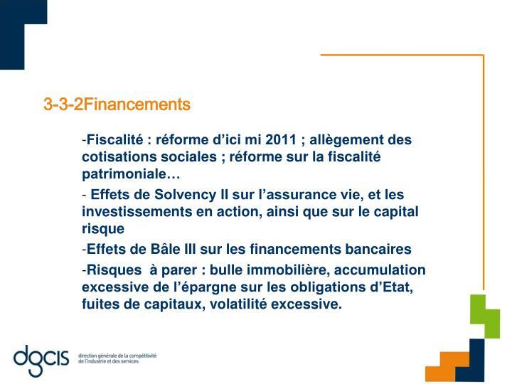 3-3-2Financements