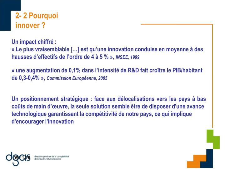 2- 2 Pourquoi innover ?