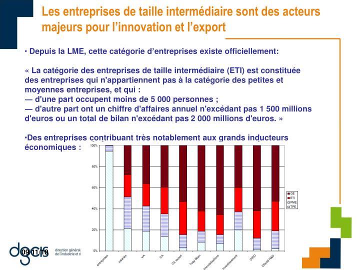 Les entreprises de taille intermédiaire sont des acteurs majeurs pour l'innovation et l'export